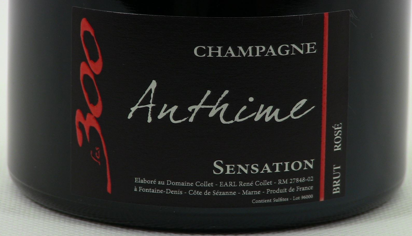 Champagne aoc domaine collet sensation ros brut reflet des bulles - Saignee a domicile ...