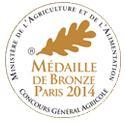 Médaille de Bronze Concours Vignerons Indépendants 2014