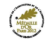 Médaille d'Or au Concours Général Agricole 2012