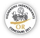 Médaille d'Or au Concours du Vigneron Indépendant 2011